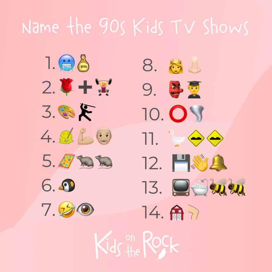 Name the 90s kids tv shows Emoji Quiz