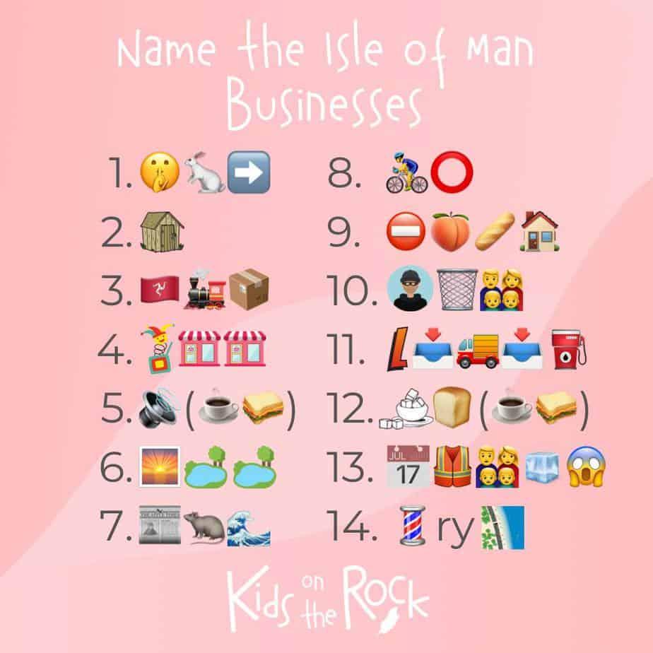Name the Isle of Man Businesses Emoji Quiz