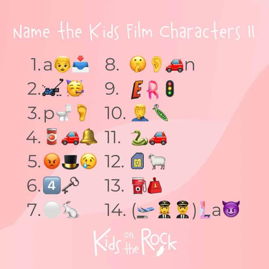 Name the Kids Film Characters II