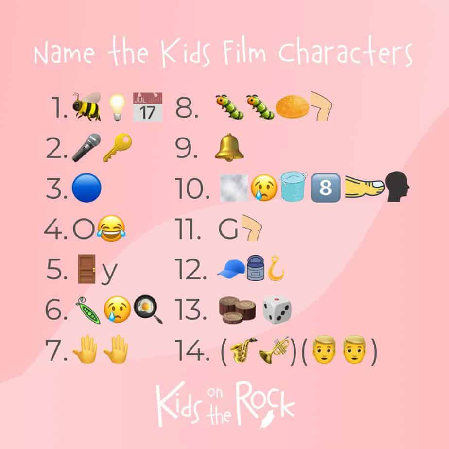 Name the Kids Film Characters